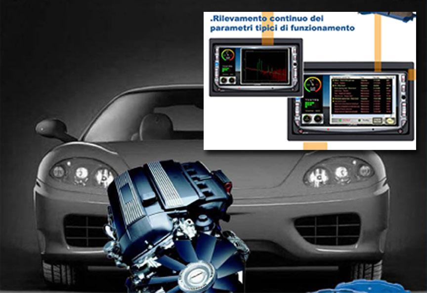 Dispositivo a bordo per la rilevazione e la registrazione dei parametri dinamici e termici.